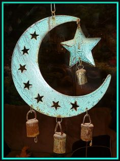 One of my Favorite Wind Chimes by chippewabear, via Flickr - Moon - Stars - Bells , Wind Chime