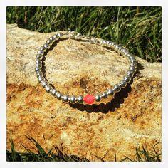 Silver Plate & Gemstone Stacking Bracelet by AppleBlossomJewel