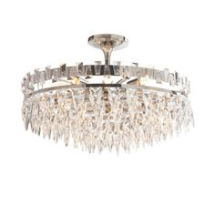Visual Comfort Studio Joe Nye 10 Light Trillion Flush Mount in Polished Nickel Bedroom Lighting, Home Lighting, Lighting Design, Lighting Ideas, Visual Comfort Lighting, Circa Lighting, Residential Lighting, Hinkley Lighting, Flush Mount Lighting