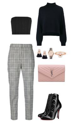 """""""Untitled #4186"""" by fashionhypedaily ❤ liked on Polyvore featuring Alexander Wang, Thierry Mugler, Rejina Pyo, Yves Saint Laurent, FOSSIL, Marie Mas and Christian Louboutin"""