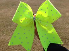 "Cheer, Dance, and Boutique Bow ""Neon Swarovski Crystal"""