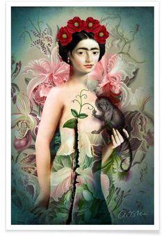 Frida as Premium Poster by Catrin Welz-Stein | JUNIQE