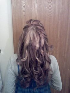 long hair with curls    Candice did this for me  :)