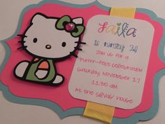Hello Kitty Birthday Party Invitation