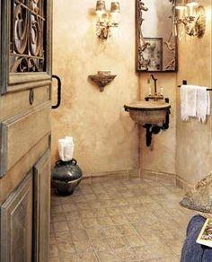 #bathroom #french #ideas #home @artisanslist ❤️❤️❤️    Tuscan bathroom