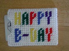 Happy B-Day gift card holder
