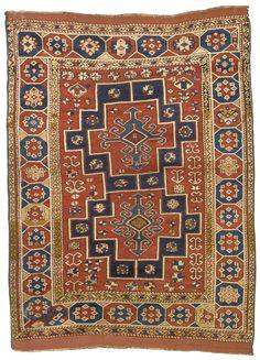 A Bergama rug, West Anatoliaapproximately by by quarter century Blanket Stitch, Oriental Rug, Rugs On Carpet, Folk Art, 19th Century, Art Decor, Modern Art, Bohemian Rug, Auction