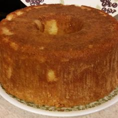 Pound Cake With Glaze Coconut And Rum Flavorings