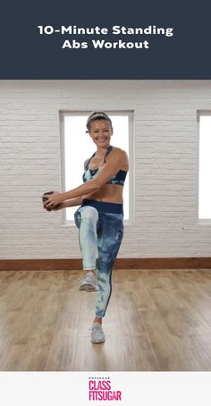 Once You Work Your Abs Standing, You'll Never Go Back to Crunches is part of Standing ab exercises - It's time to the give up crunches to do some ab exercises that really work Skip lying on the ground and give this ab workout a whirl Adding a Fitness Workouts, Lower Ab Workouts, Abs Workout Routines, Fitness Tips, Fitness Plan, Circuit Workouts, Fitness Motivation, 10 Minute Ab Workout, 10 Minute Abs