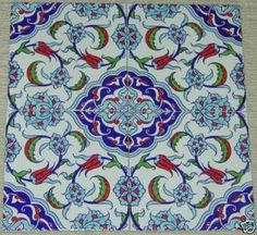 "12 8""x8"" Turkish China Ceramic Tulip Tiles 