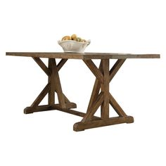 Stylistu0027s Tip: Featuring A Distressed Natural Finish, This Wood Table  Inspires Cozy Rustic Appeal In Your Dining Room. Dress This Design With  Gingham Print.