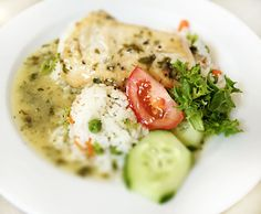 Denné menu Vranov | Sprudka opečený kurací steak s bylinkovým maslom, zeleninová ryža - reštaurácia Hotel Patriot*** #hotel #restaurant