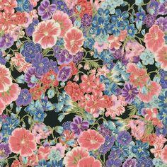 Robert Kaufman Fabrics: SRKM-15838-2 BLACK from Grand Majolica
