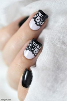 66 Elegant Lace Nail Art Designs 2018 #nailart