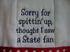 Ole Miss Burp Cloth by CoughlinCrafts on Etsy....this is so wrong :)