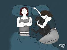 Sanvers in bed pt.2 + Gertrude Gertrude steals cuddles