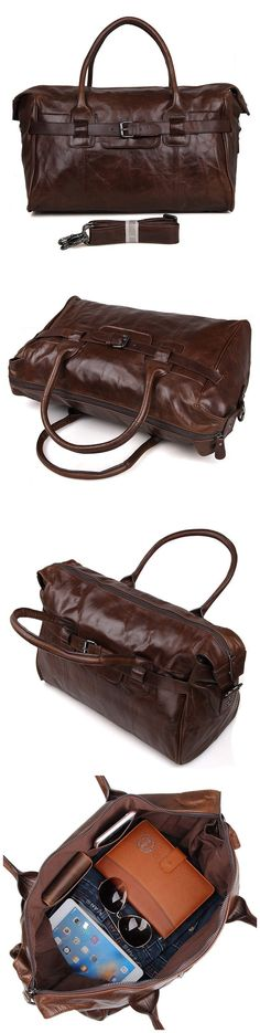 Handmade Top Grain Leather Travel Duffle Bags Designer Overnight Bag Men s Gym  Bag 7079 Mens Overnight 59da10336d269