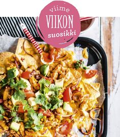 Nachopelti on superhelppo herkku. I Love Food, Good Food, Yummy Food, My Cookbook, Snacks Für Party, Wine Recipes, Food Inspiration, Food To Make, Food And Drink