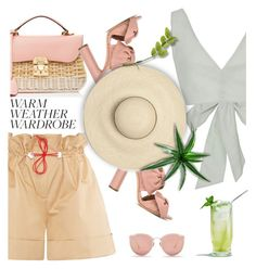 """How to Dress for a Heat Wave"" by bliznec-anna ❤ liked on Polyvore featuring Marianna Senchina, Mark Cross, Casadei, heatwave, polyvorecontest and polyvorefashion"