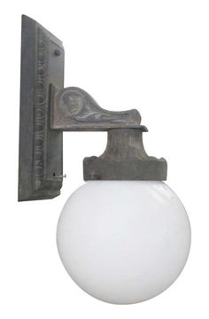 Iron sconce with globe