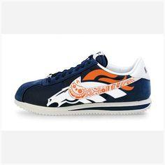 watch 759e1 14f22 Bandana Fever Bandana Denver Broncos Big Print Custom Navy White Nike  Cortez Shoes