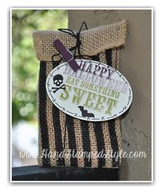 Spooky Treats Are Super Sweet With Paper Pumpkin kits http://www.handstampedstyle.com created this adorable gift and tag from the Sept. Kit!