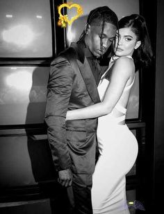 """Kylie Jenner Photos Photos: Premiere Of Netflix's 'Travis Scott: Look Mom I Can Fly' - Arrivals  <br> Kylie Jenner Photos - Image has been converted to black and white.) Travis Scott and Kylie Jenner attend the premiere of Netflix's """"Travis Scott: Look Mom I Can Fly"""" at Barker Hangar on August 27, 2019 in Santa Monica, California. - Premiere Of Netflix's 'Travis Scott: Look Mom I Can Fly' - Arrivals Kylie Jenner Fotos, Trajes Kylie Jenner, Jenner Photos, Travis Scott Kylie Jenner, Kyle Jenner, Travis Scott Wallpapers, Black And White Photo Wall, Black And White Couples, Black And White Aesthetic"""