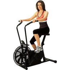 Fan Upright Exercise Stationary Bike Fitness Equipment Home Gym Workout Bicycle