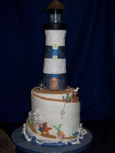 lighthouse - never would have thought of a lighthouse cake but I could see how this could be pretty cool for those lighthouse fanatics that I know :)