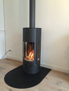 Austroflamm pi-co woodstove from austria. Installed near of Amsterdam.