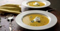 Puréed Winter Squash and Red Lentil Soup Recipe - NYT Cooking Lentil Soup Recipes, Red Lentil Soup, Lentil Dishes, Lentil Salad, Cooking Recipes, Healthy Recipes, Vegetarian Cooking, Healthy Dinners, Salad Recipes