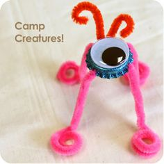 Bottle Cap Crafts with googly eyes