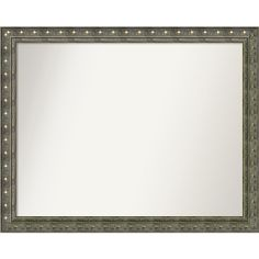 Wall Mirror Choose Your Custom Size - Medium, Barcelona Champagne (Beige) Wood (Outer Size: 27 x 26-inch)