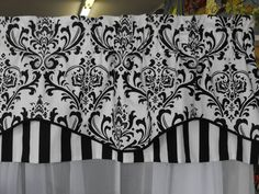 Valance window treatment blk and white lined by LaTeDaWindows, $59.00