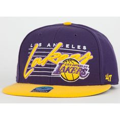 aa81f34bcc7c4 47 BRAND Fission Lakers Mens Snapback Hat ( 25) ❤ liked on Polyvore Shoe Bag