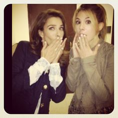 KJ Alfonso and Kate Mansi behind-the-scenes on Photo via Ellis Mansi Kate Mansi, Kristian Alfonso, Casting Pics, Days Of Our Lives, Diy Projects To Try, Behind The Scenes, Tv Shows, It Cast, Sands