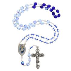 This blue jubilee rosary features the official Vatican Year of Mercy logo as the centerpiece making it a perfect reminder to reflect on the loving mercy of the Father as you recite the rosary. The Holy Year of Mercy, as proclaimed by Pope Francis, is a time for all believers to encounter the mercy of God. The extraordinary jubilee will commence on the Solemnity of the Immaculate Conception (December 8, 2015) and concludes on the Feast of Christ the King (November 20, 2016).