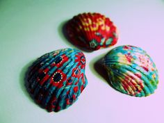 My decoupage shells :) Seashell Painting, Seashell Art, Seashell Crafts, New Crafts, Diy And Crafts, Crafts For Kids, Arts And Crafts, Beach Themed Crafts, Beach Crafts