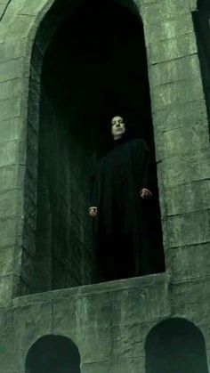 Severus Snape -- At the beginning of this movie, you see Snape, but you can hear a woman singing in the background. I always say that it's Snape singing. Harry Potter Severus Snape, Alan Rickman Severus Snape, Harry Potter Love, Harry Potter Universal, Harry Potter Fandom, Harry Potter Characters, Harry Potter World, Draco Malfoy, Hermione Granger