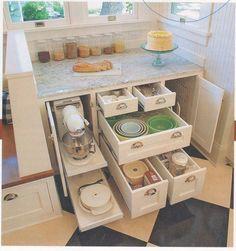 Corner kitchen cabinet storage 39 Corner Kitchen Cabinet Storage 39 - Own Kitchen Pantry Bakers Kitchen, Kitchen Pantry Design, Kitchen Cabinet Storage, Kitchen Drawers, Kitchen Redo, Kitchen Organization, New Kitchen, Kitchen Ideas, Kitchen Cabinets