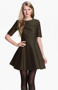 3048caa60177 Ted Baker London Jacquard Fit   Flare Dress
