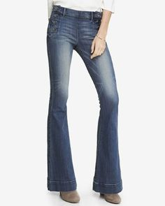 medium wash mid rise bell flare sailor jean from EXPRESS