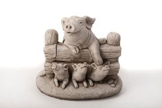 Oswaldtwistle Mills | Oakley Stone Animals - Pig Family