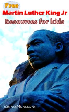 Free Dr. Martin Luther King Jr Resources for Kids from iGame Mom