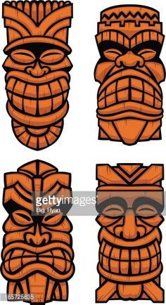 Tree Carving, Wood Carving Art, Wood Art, Totem Tiki, Tiki Maske, Art Indien, Tiki Faces, Tiki Tattoo, Tiki Head