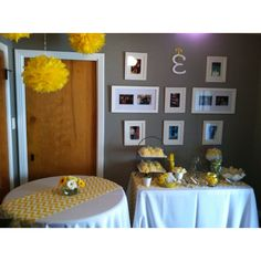 cute yellow chevron table runner