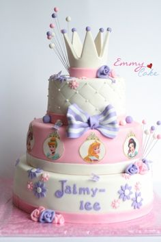 princess cake perfect for my birthday without the pictures of the OTHER princesses.