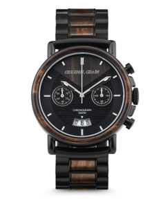 Burlwood Silver Chrono Made from all-natural burl wood. Features a case, wood bezel inlay, brushed silver stainless steel, sapphire crystal glass cover, & Japanese quartz movement. Learn more. Steel Detail, Swiss Army Watches, Black Stainless Steel, Mens Gift Sets, Wood Watch, Chronograph, Watches For Men, Stylish Watches, Men's Watches