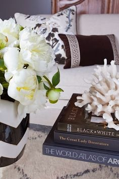 from Inspiration Showhouse.  Like the trim on the small pillow