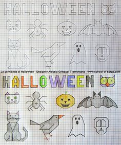 Disegni f&f plus size dresses - Plus Size Graph Paper Drawings, Graph Paper Art, Easy Drawings, Blackwork, Art Halloween, Halloween Decorations, Drawing For Kids, Art For Kids, Doodle Designs